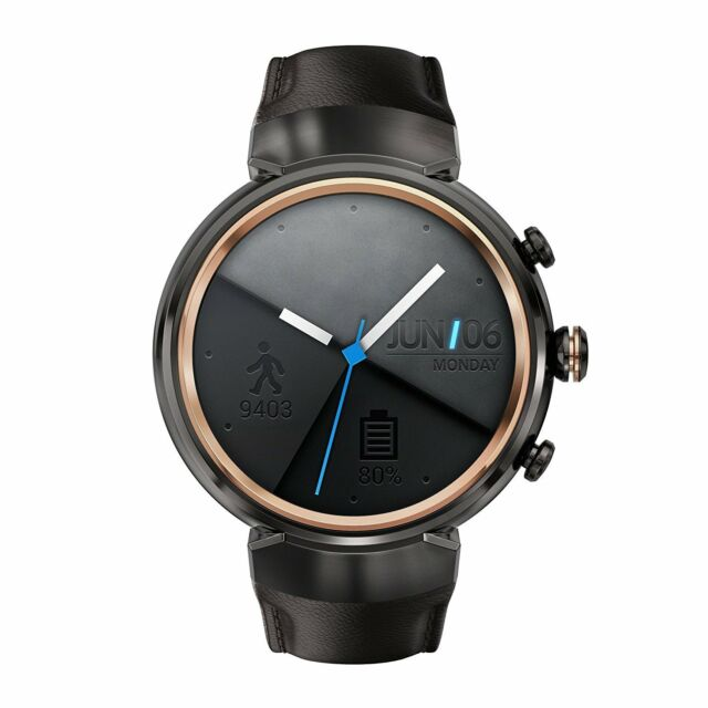 NEW ASUS Zenwatch 3 WI503Q-GL-DB Smart Zen Watch Leather