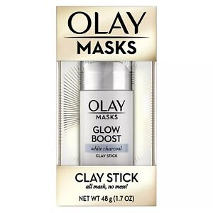 Olay-Glow-Boost-White-Charcoal-Clay-Face-Mask-Stick-Facial-Cleanser-1-7oz