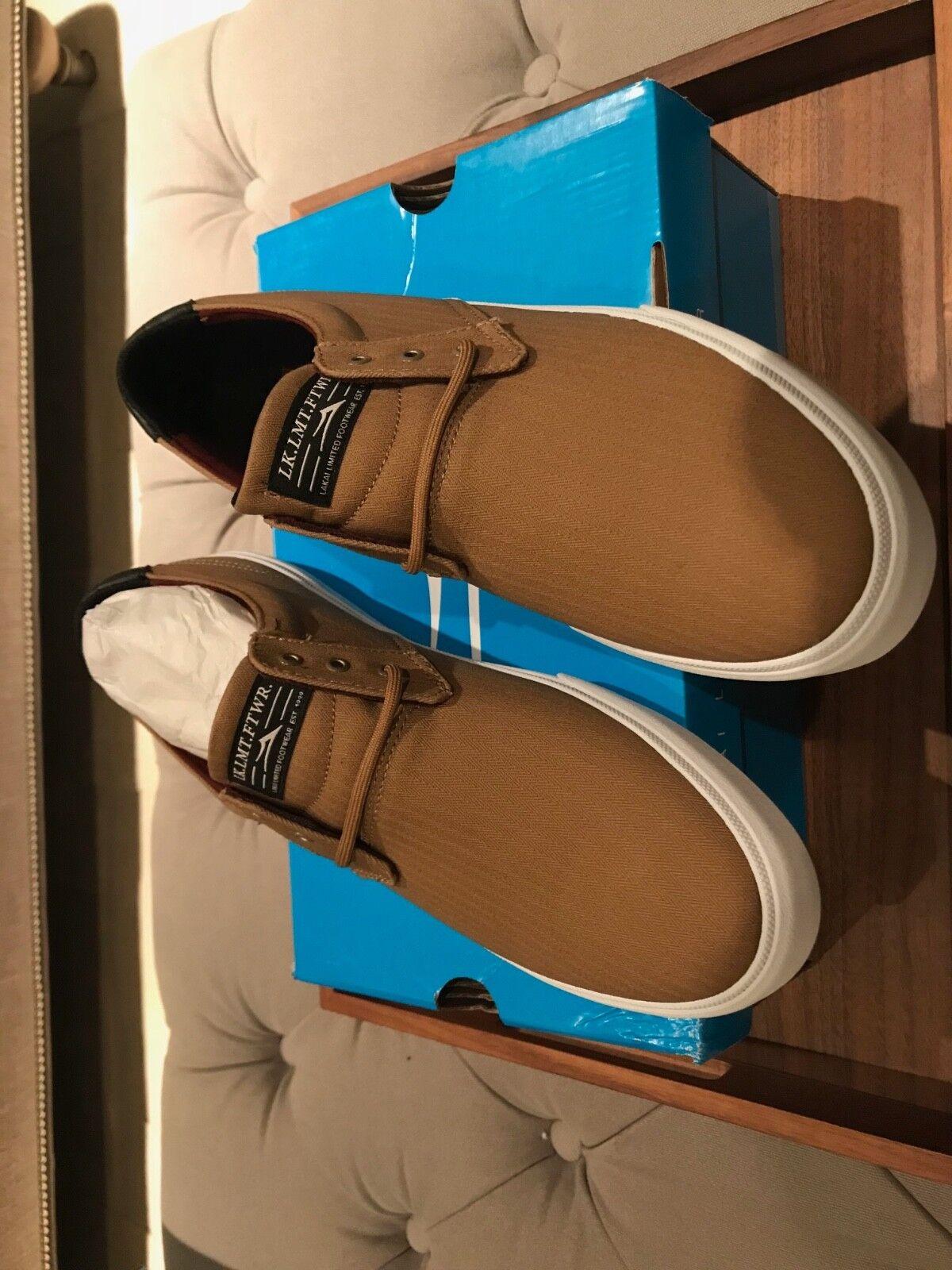 Men's Lakai shoes Marc Johnson MJ Wheat Textile Size 11