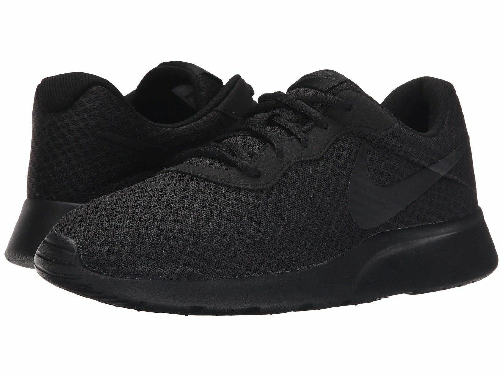 NIKE Tanjun 812654- 001 7.5 Black  Running Casual Shoes Men Sizes 7.5 001 thru 10.5 ee4492