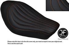 ORANGE ST LINE DESIGN CUSTOM FOR HARLEY SPORTSTER IRON 883 SOLO VINYL SEAT COVER