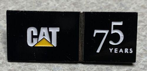 Black CAT Caterpillar 75 Years Lapel Hat Pin D