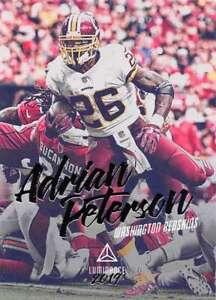 2019 LUMINANCE #77 ADRIAN PETERSON WASHINGTON REDSKINS FOOTBALL CARD
