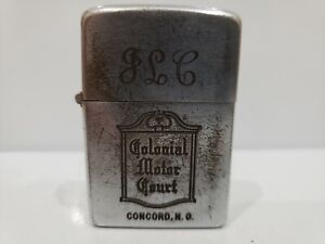 Vintage-Laboral-1937-1950-Zippo-Encendedor-Pat-2032695-034-Colonial-Motor-Court-034