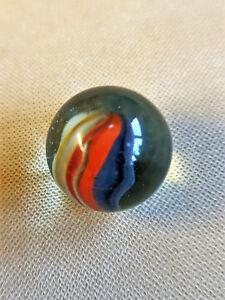 1 alte Sammler Glas Murmel 22 mm Durchmesser Lauscha Marble Swirl, Lufteinschluß