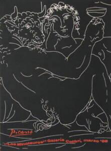 PICASSO-SERIGRAPH-LOS-MINOTAUROS-GALERIA-COLIBRI-1968