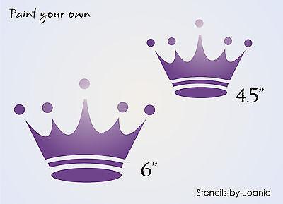 Stencil Royal Crown Shape Princess Tiara Fairy Tale Storybook Shabby Signs SM