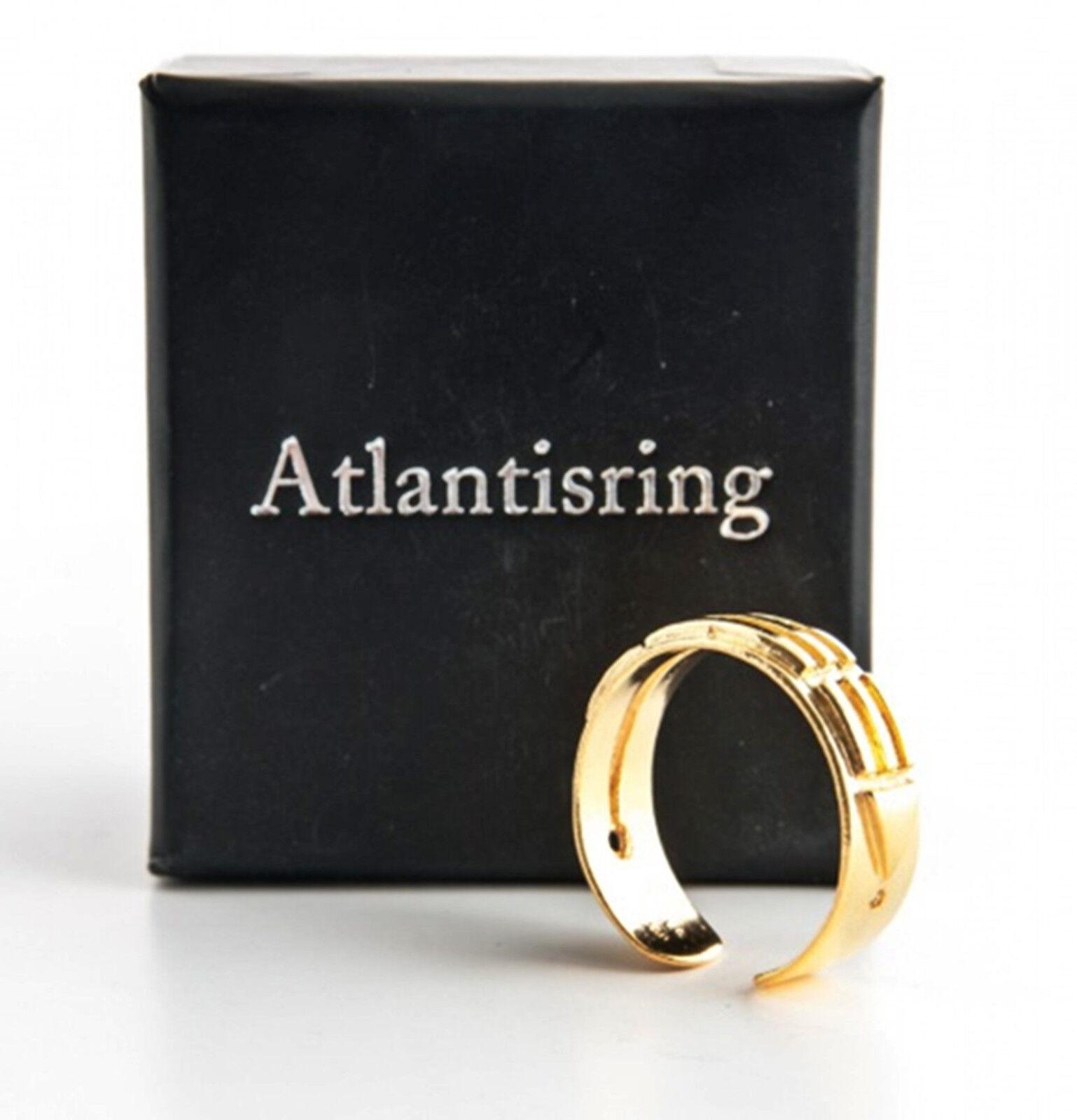 ATLANTIS Anello Anello Anello argentoo dorato (dimensioni UOMO) anello aperto 925 Sterling argentoo 58d5e3