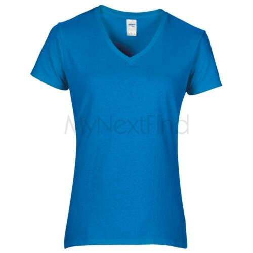 Gildan Womens Premium Cotton V-Neck T-Shirt