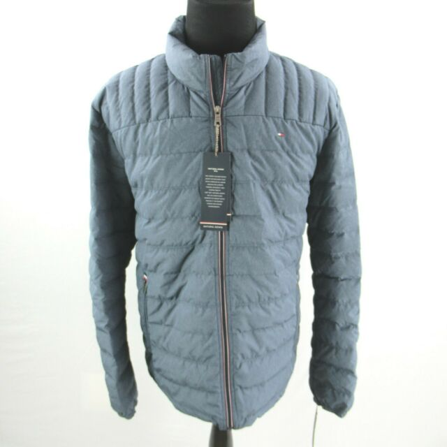 $195 Tommy Hilfiger Packable Down Quilted Logo Jacket Coat Mens XXL 2XL NEW
