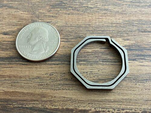 Titanium Octagonal Split Ring 29mm