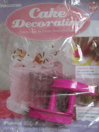 DeAGOSTINI Gâteau Décoration Magazine Numéro 141 avec 2 Lily Piston Cutters