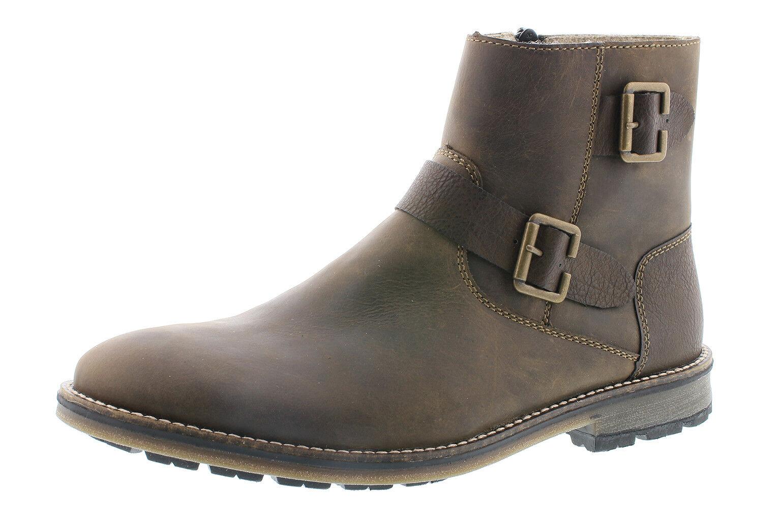Rieker f5571-24 caballeros botas botín marrón cuero genuino nuevo