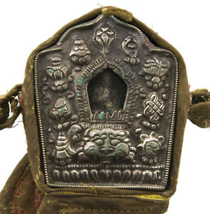 Ghau Gau Tibetain-Autel Tempio Da Viaggio Jan Bodhisattva Dakini 278 Aa