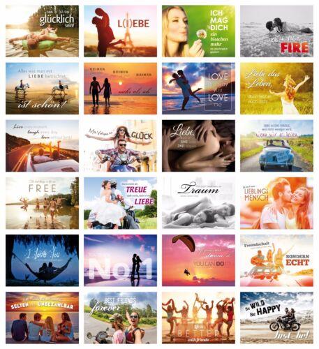 LOVE-CARDS (Set 1): 24-er Postkarten Set LIEBE für Hochzeiten, Postcrossing etc.