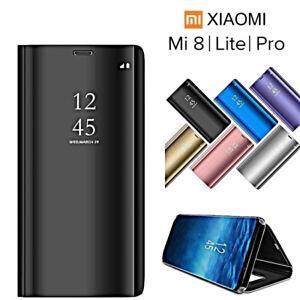 COVER-per-Xiaomi-Mi-8-Lite-Pro-FLIP-ORIGINALE-MIRROR-CASE-SLIM-Clear-View