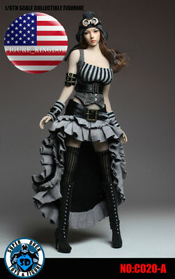 SUPERDUCK 1//6 Steampunk Dress Set C020B For 12/'/' PHICEN VERYCOOL Female Figure