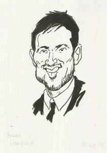 Terry Shelbourne (1930-2020) - Contemporary Pen and Ink Drawing, Frank Lampard