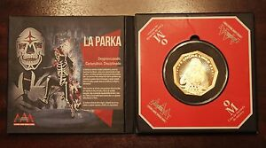 Mexico-AAA-Wrestling-Trimetallic-Medal-PARKA-original-display-proof