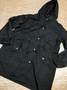 A-120-Abollria-Rain-Jacket-Women-Waterproof-Hood-Lightweight-Active-BLACK-sz-L
