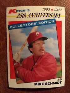 Details About 1987 Topps Kmart Stars Of The Decades Baseball Card 31 Mike Schmidt