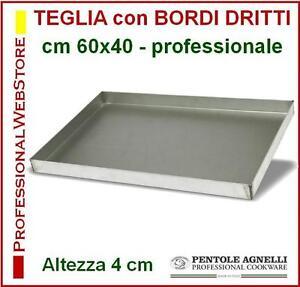 TEGLIA-RETTANGOLARE-BORDI-DRITTI-ALTEZZA-CM-4-AGNELLI-cm-60x40-TEGLIE-ALLUMINIO