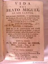 VIDA DEL BEATO MIGUEL DE LOS SANTOS