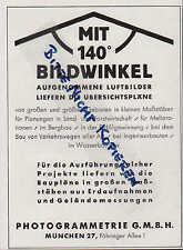 MÜNCHEN, Werbung 1940, Photogrammetrie GmbH Baupläne aus Erdaufnahmen Geländemes