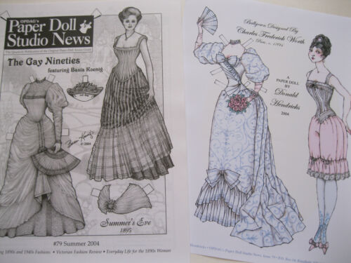 Paper Doll Studio Magazine Issue #79 THE GAY NINETIES from Summer 2004