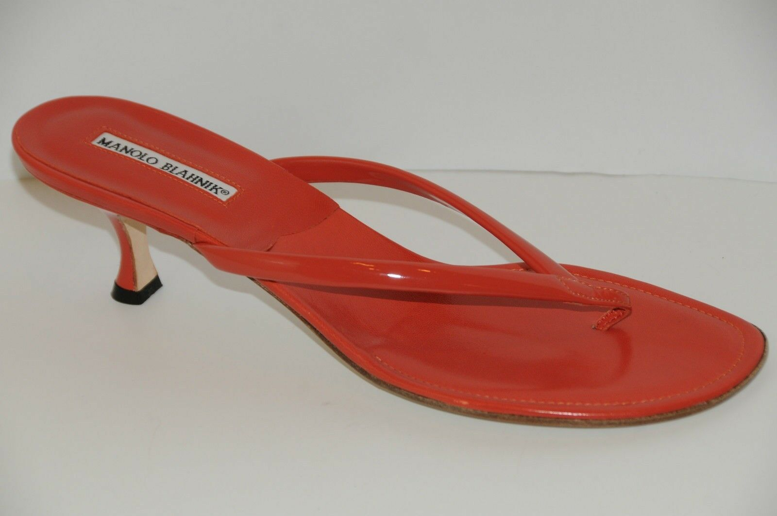 Neuf Femmeolo Blahnik Corail Orange  s s s Tongs Glissière Chaussures 57d0b8