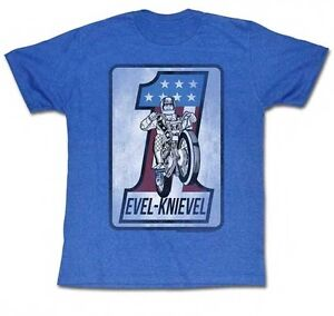 AUTHENTIC-EVEL-KNIEVEL-LOGO-1-MOTORCYCLE-RIDER-STUNT-BLUE-T-SHIRT-S-M-L-XL-2XL