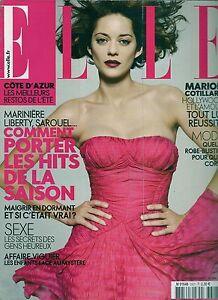Elle N° 3307--marion Cotillard & Hollywood/mariniere-robe Bustier/maigrir Couleurs Harmonieuses
