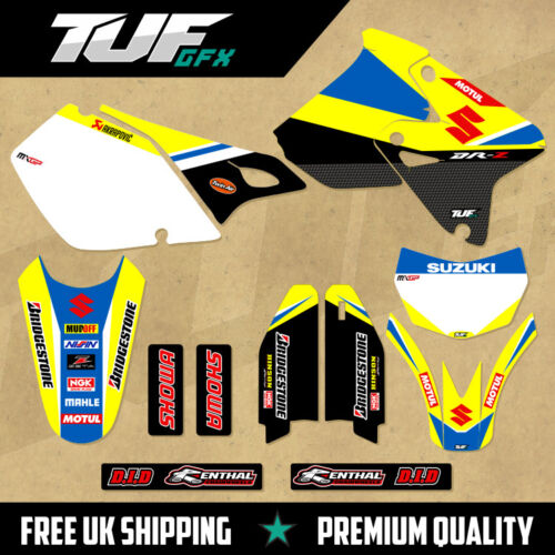 SUZUKI DRZ 400 1999-2018 Full Graphic Kit MX Motocross Enduro Decals GP REPLICA