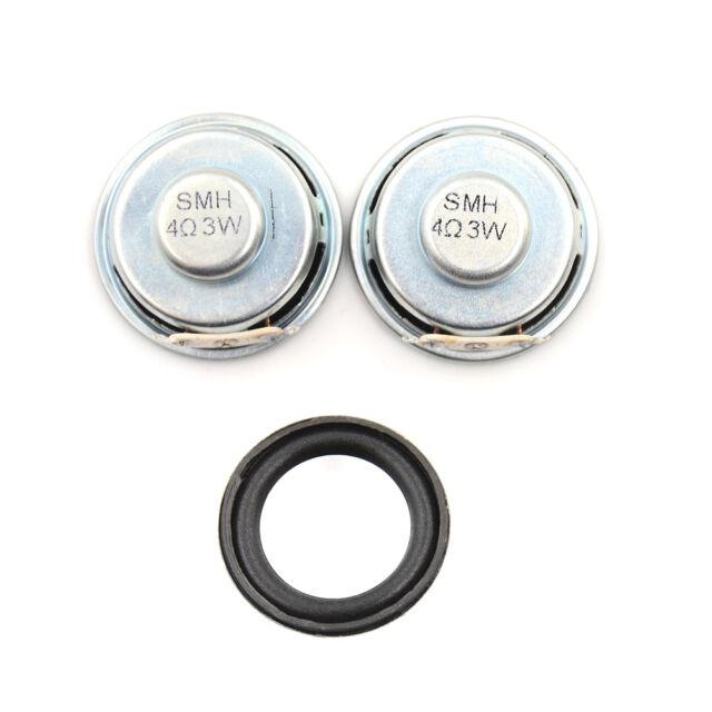 2pcs 4Ohm 3W 40mm Loudspeaker Woofer Audio Full Range Speaker Stereo BoxNTAEBAU