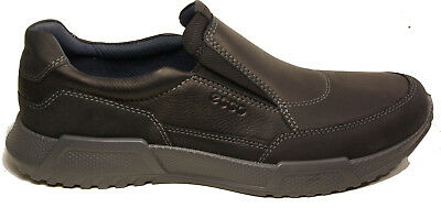 ECCO mens Shoes model ENNIO Slip ons  BLACK leather NEW