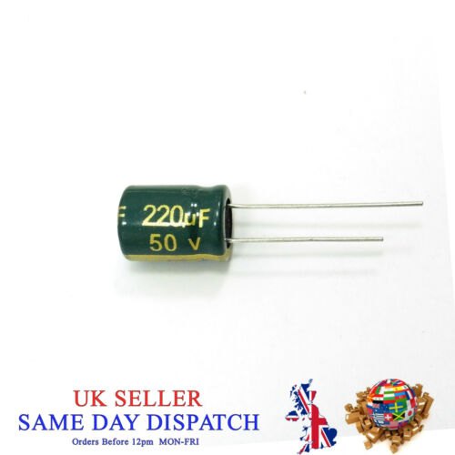 High Frequency 50V Electrolytic Capacitor Value 220uF CHONG