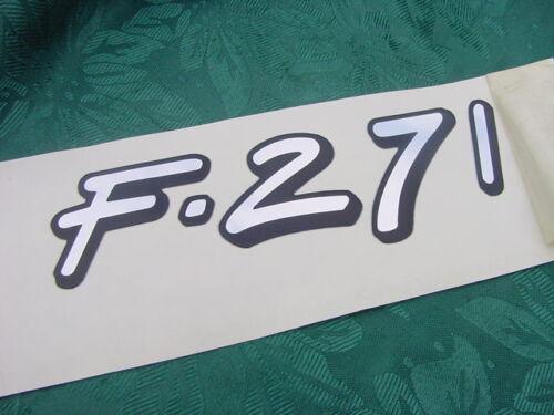 "FORMULA BOAT DECAL /"" F-271 /"" GENUINE NEW 6/"" LONG MIRROR LIKE CHROME FINISH"