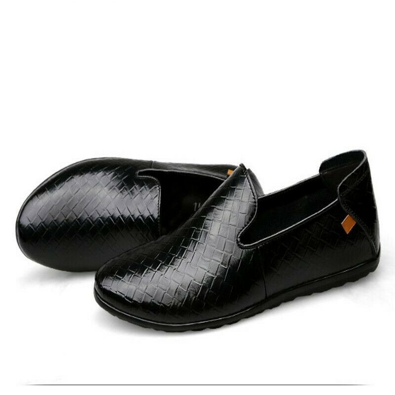 2019 Men Spring Leather Slip On Flats Comfort Loafers Moccasin Driving shoes New