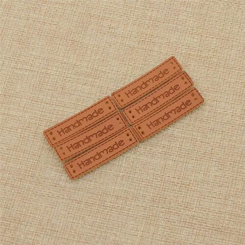 200Stk Handmade Etikette Kunstleder Label DIY Kleidung Tag Jeans Nähen Bestel