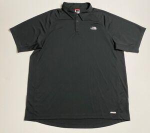 The-North-Face-Mens-Golf-Polo-Shirt-Black-Short-Sleeve-Vapor-Wick-Collar-2XL