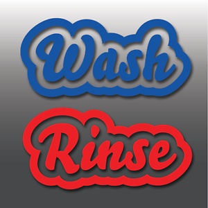 Car Detailing Wash Rinse Bucket Vinyl Decal Stickers Wax - Vinyl decals car wash