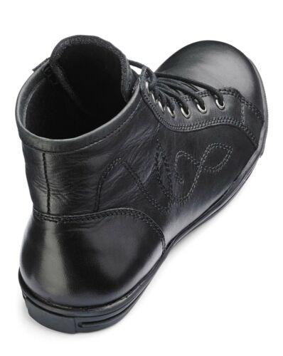 Filles Enfants en Cuir à Lacets Noir Baskets Montantes Baskets Chaussures Taille 11 29