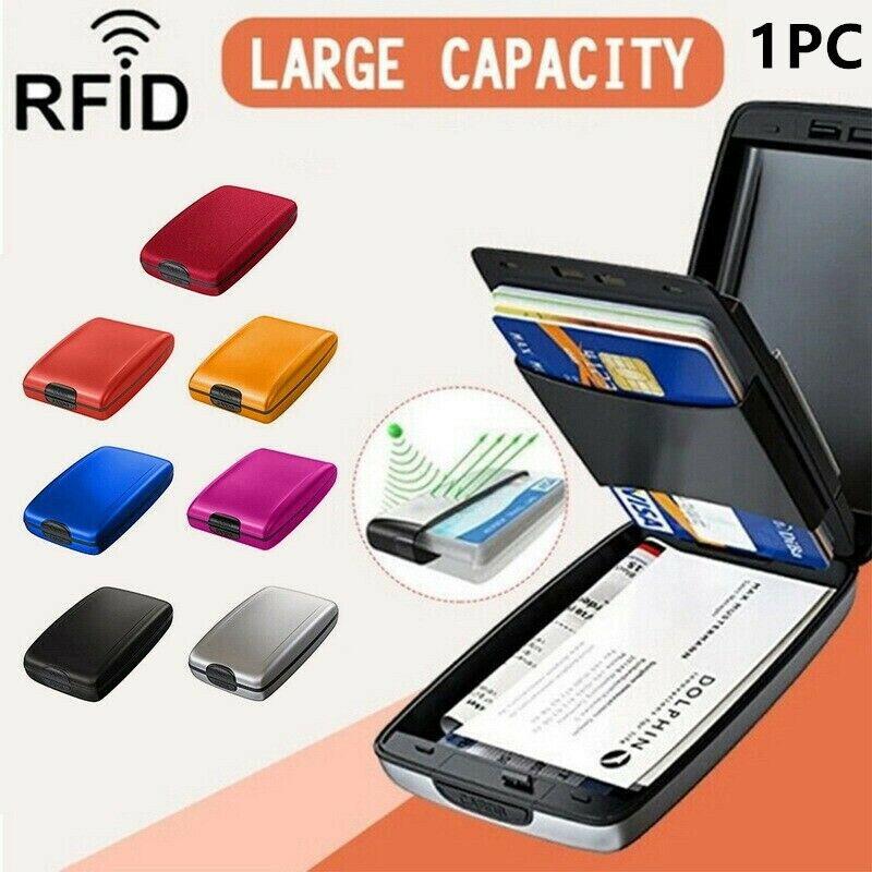 1 Pack Aluminium Wallet Hard Case RFID Blocking Credit Card Holder Schützen