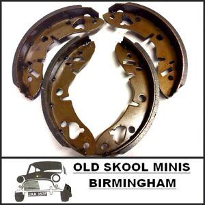 Classic Mini zapato de freno delantero set GBS733 Rover Austin Morris Tambor Zapatos 3E6