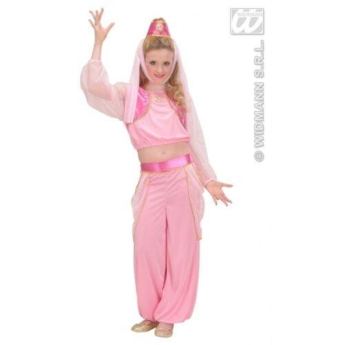 100% Vero Carnevale Costume Vestito Genio Della Lampada Bambina 8/10 Anni Per Godere Di Alta Reputazione Nel Mercato Internazionale