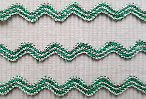 Antik 3m Uralte Zackenlitze Grün/creme 10mm Keine Synthetik Um 1900 Eine VollstäNdige Palette Von Spezifikationen Haushalt Antiquitäten & Kunst