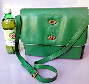 Image is loading FENDI-Crossbody-Shoulder-Bag-GREEN-Nappa-Calfskin-Leather 4314c73ab18dc