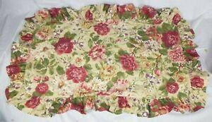 Ralph Lauren Constance Post Road Floral Ruffled KING Pillow Sham 100% Cotton