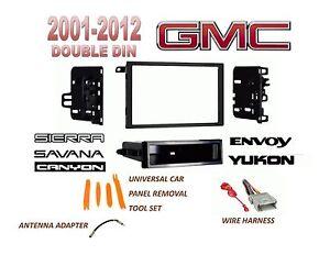 details about 2001-2012 gmc sierra savana yukon 2 din car stereo install  dash kit, harness