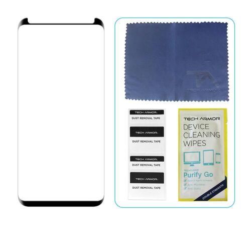 Tech Armor 3D-Borde De Vidrio Protector de pantalla para Samsung Galaxy Note 8-Negro//1 Pack